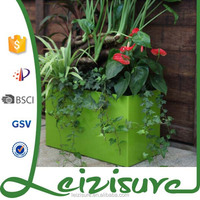 2015 hot sale ceramic looking plastic pot for wall mounted flower pot