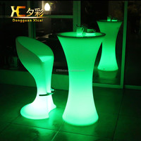 Popular Bar Nightclub Party Glow LED Cocktail Table/ hot sale led coffee table