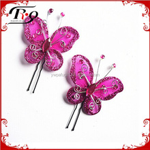 wedding accessories decorative butterfly hairpin for bride