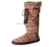 Women's Tall Fleece-Lined Slipper Boot Tie Tassel