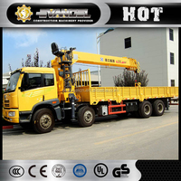 cheap sq16sk4q xcmg truck mounted crane 16 ton luffing crane for sale