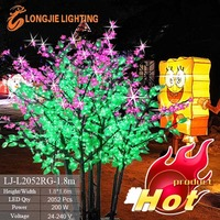 artificial decorative led tree with lilac flowers lights for street or residential district planting