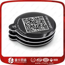 QR code 13.56Mhz passive f08 Rfid pet key tag