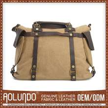 Promotional Good Quality Canvas & Leather Indonesia Custom Bag