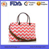 Best selling long shoulder travel bag for ladies Cheap chevron printing travel bag