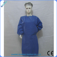 hospital normal style Dark blue disposable long sleeve isolation gown