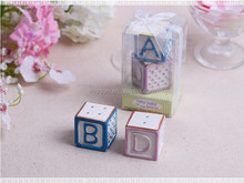 """Wedding favors """"New Baby on the Block"""" Ceramic Baby Blocks Salt and Pepper Shakers Baby"""