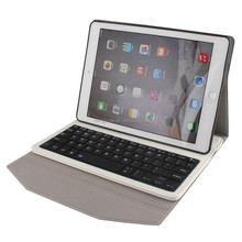 Factory price bluetooth keyboard with leather case for iPad case