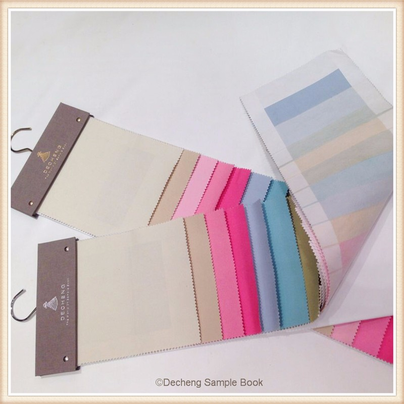 Book Cover Material Examples ~ Decheng supplier textile sample book display stand shape