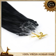 16'' Silky Straight Micro Ring Unprocessed 100% Virgin Brazilian Human Hair Weaving Accept Paypal Payment
