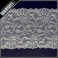 eyelash plain yarn lace trim and textile in 100% nylon lace material for dress trim Changle fabric 5903