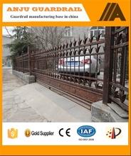 AJ-GATE005 Solid sliding steel entry metal gates design