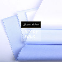 James Ready Woven Solid Color Yarn Dyed Cotton Polyester CVC Twill Shirting Fabric