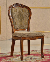Solid wood furniture wooden chair hand carved wooden dining chair (NG2635)