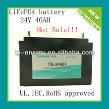 Durable lithium ion battery pack for LED 24V lighting system TB-2403F