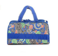 Wholesale High Quality Quilted Paisley Microfiber Beauty Bag for Travel Cosmetic Case
