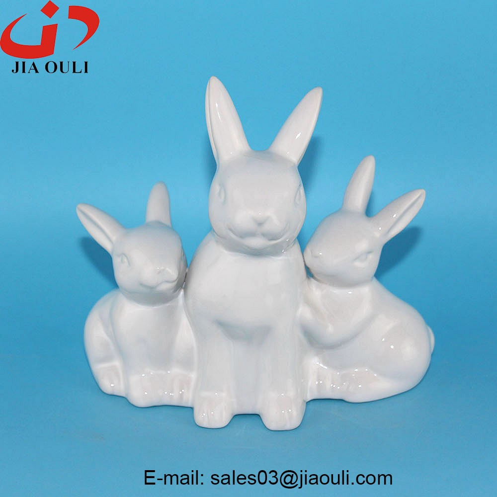 Bsci Audit Factory Easter Rabbit Figurines Small Grey