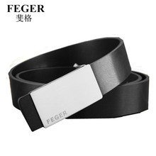 Black and white pin buckle genuine belt fashion for men