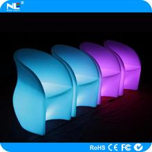 Dremlike LED outdoor furniture / battery charge lighting LED sofa / plastic LED light bar chairs