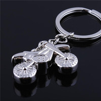 Custom metal motorcycle shape keychain