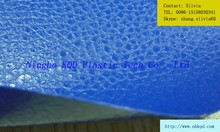 Blue Leatherette Pattern Embossed PVC Coating Fabric with Polyester/ Anti-abrasion Fireproof Sofa Cover Fabric ic