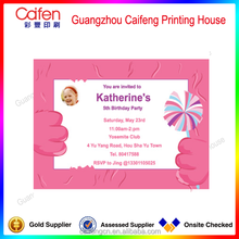 good value folded two pages priting birthday invitation cards