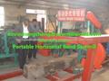 máquina de sierra de cinta horizontal para la madera