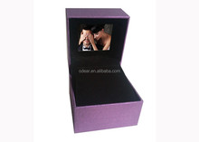 fashion purple jewelry video box pendant earring box