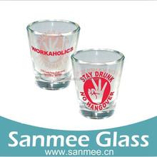 Custom Design Wholesale Shot Glass Printed Glass Colored Glassware Personalized Colored Square Shot Glasses