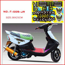 Die Cut Car decal High temperature resistant/transparent MONSTER motorcycle sticker