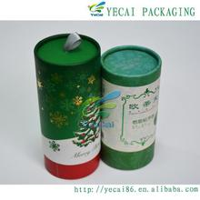 luxury round tea canisters paper cardboard packaging tubes box