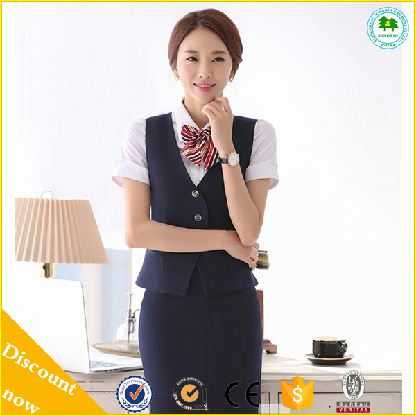 2015 vente chaude dame de bureau jupe costume dames banque uniforme dames airline uniforme. Black Bedroom Furniture Sets. Home Design Ideas