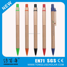 Best selling carton pen with wooden clip