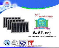 New 5w 5.5v Poly Polycrystalline Solar Panel 12V for Battery Charger PV Solar Panel