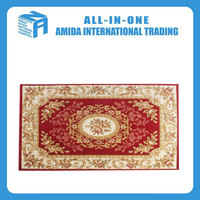 Fashion design home rug carpet machine made custom printed red rug carpet