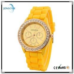 2015 factory price brand watch diamond watch china watch silicon band watch