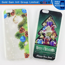 New Arrival Colorful Christmas TPU Mobile Phone Case for iPhone 6