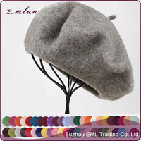 Wool beret the painter cap / cheap knitted beret for sale