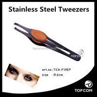 9.9cm tipped makeup stainless steel eyebow tweezers