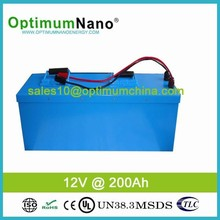 2015 Newest Marine Battery Pack Lithium Ion 12V 200Ah