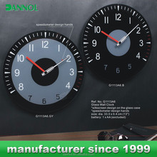 Analog car Dashboard clocks design glass wall clock models for sale