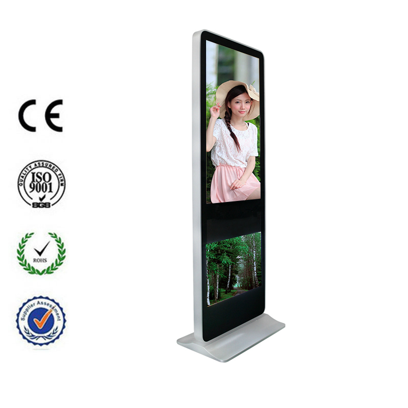 Floor stand advertising media player lcd mirror television for Mirror for lg tv