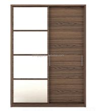 2 sliding door moving smoothly wardrobe /fitting sliding door wardrobe /2 door wardrobe cabinet