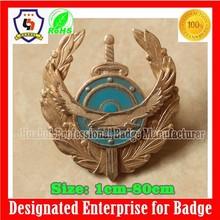 custom handbags metal logo badge with your logo, military gold badge (HH-badge-741)