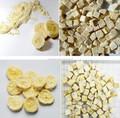 Liofilizado plátano polvo y chips