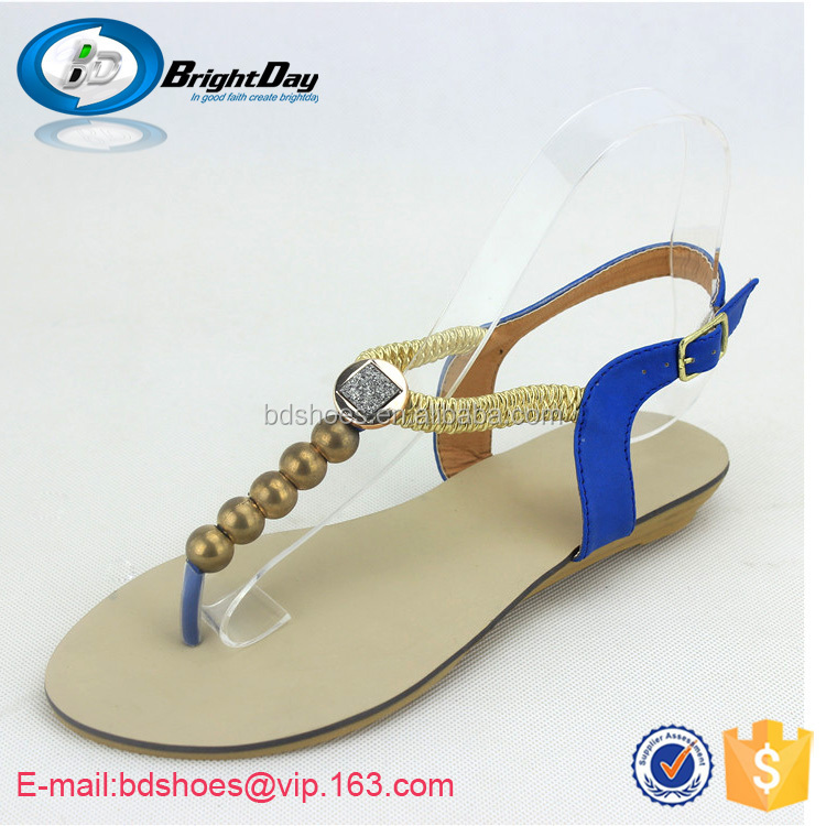 Perfect New 2014 Summer Women Sandal Candy Color Flat Sandals For Women