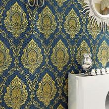 Vintage European Damascus wallpaper non-woven wallpaper interior decoration