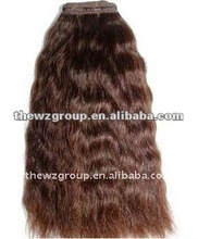 Hot sale AAA quality unprocessed machine made bohemian hair extensions