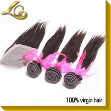 Brazilian Virgin Hair Closure Raw Unprocesse Hair Weft From Brazil
