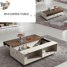 MDF furniture high gloss adjustable wooden Coffee table